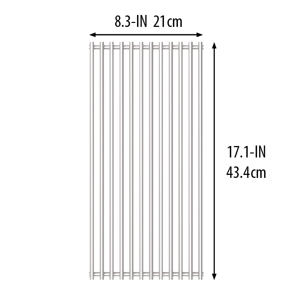 Stainless Steel Cooking Grid with dimensions